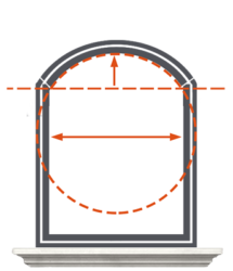 pomiar łuku okna