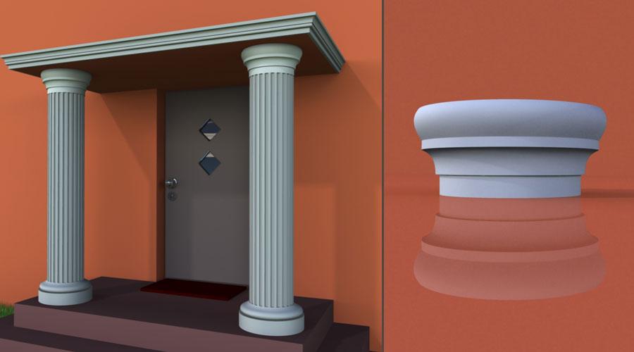 wzór 1 profilu fasadowego głowicy kolumny