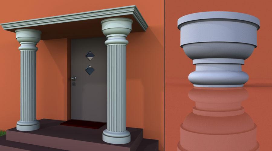 wzór 2 profilu fasadowego głowicy kolumny