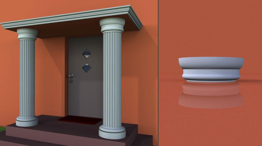 wzór 3 profilu fasadowego głowicy kolumny
