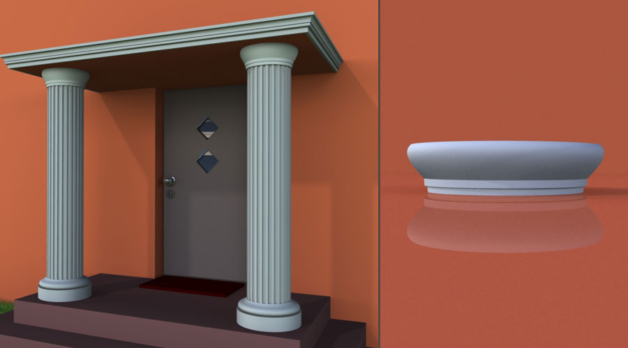wzór 4 profilu fasadowego głowicy kolumny