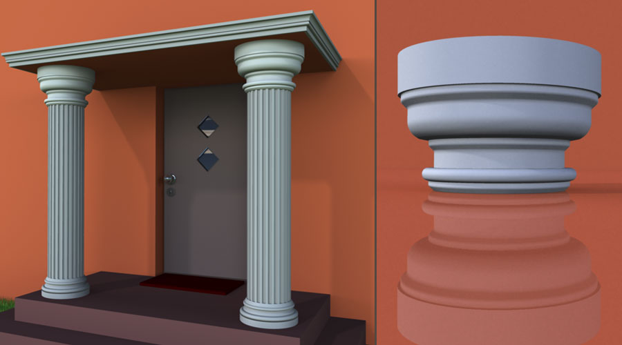 wzór 5 profilu fasadowego głowicy kolumny