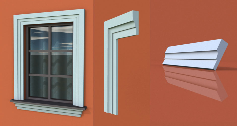 wzór 62 profilu fasadowego opaski