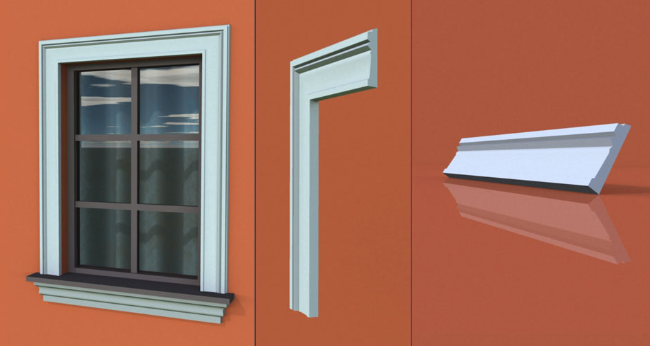 wzór 63 profilu fasadowego opaski