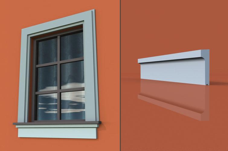 wzór 1 profilu fasadowego parapetu