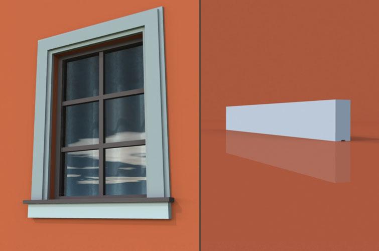 wzór 2 profilu fasadowego parapetu