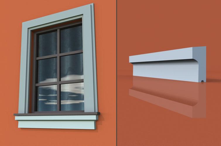 wzór 3 profilu fasadowego parapetu