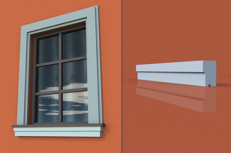 wzór 4 profilu fasadowego parapetu