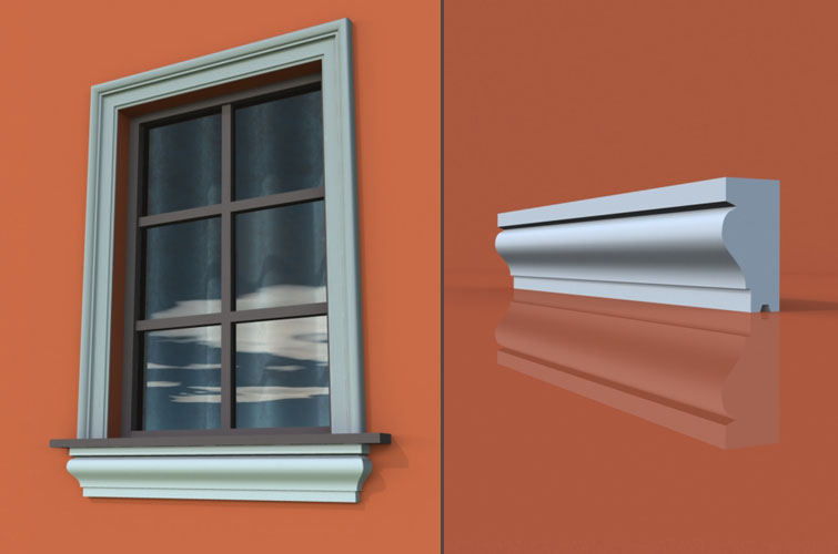 wzór 5 profilu fasadowego parapetu