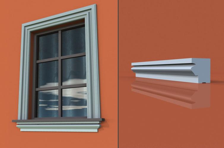wzór 6 profilu fasadowego parapetu