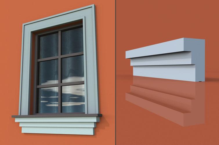 wzór 7 profilu fasadowego parapetu