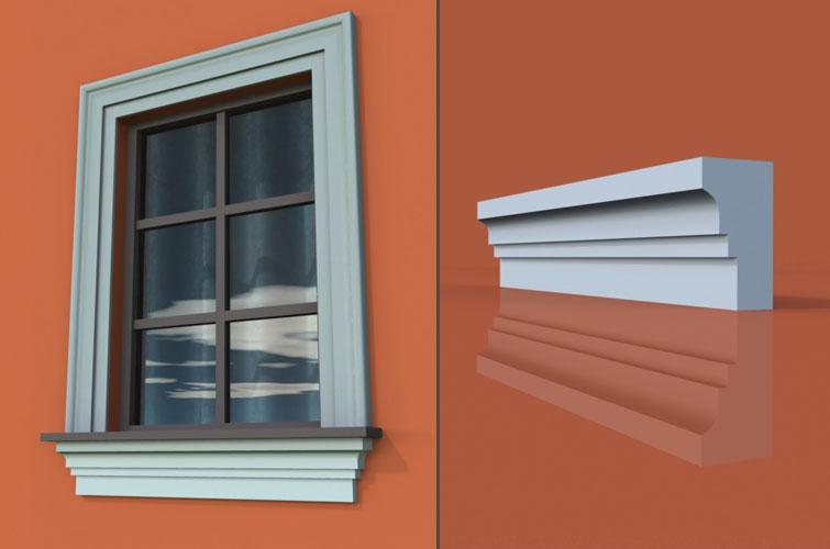 wzór 10 profilu fasadowego parapetu
