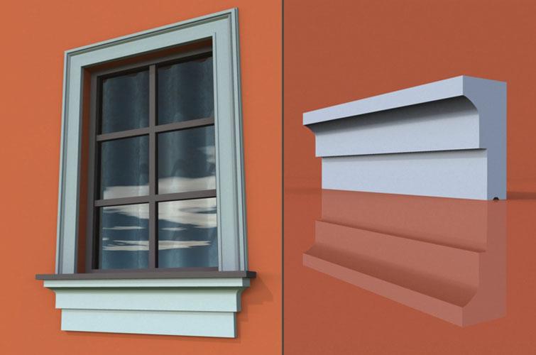 wzór 12 profilu fasadowego parapetu