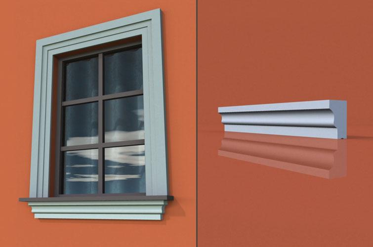 wzór 15 profilu fasadowego parapetu