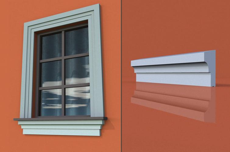 wzór 16 profilu fasadowego parapetu