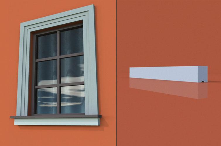 wzór 17 profilu fasadowego parapetu