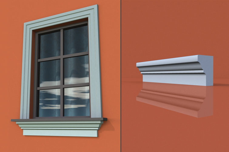 wzór 19 profilu fasadowego parapetu
