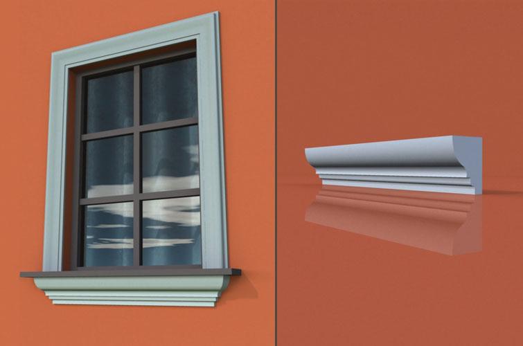 wzór 20 profilu fasadowego parapetu