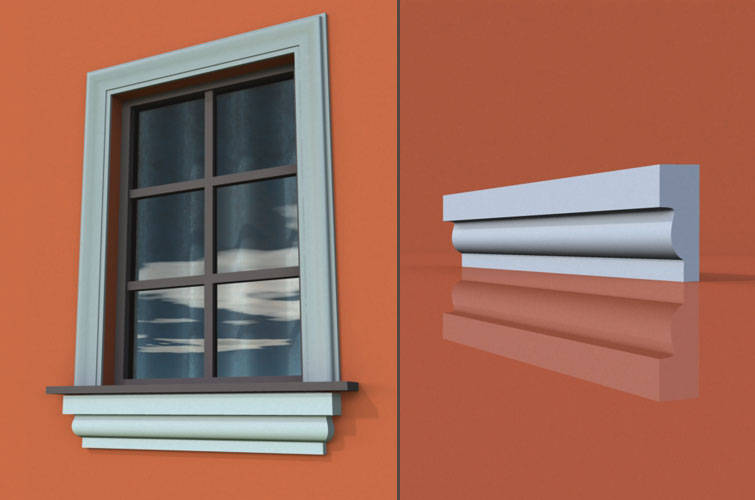 wzór 21 profilu fasadowego parapetu