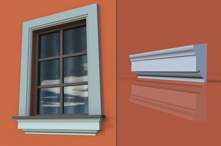 wzór 27 profilu fasadowego parapetu