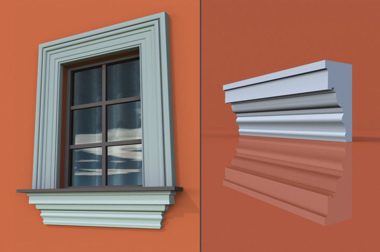 wzór 28 profilu fasadowego parapetu