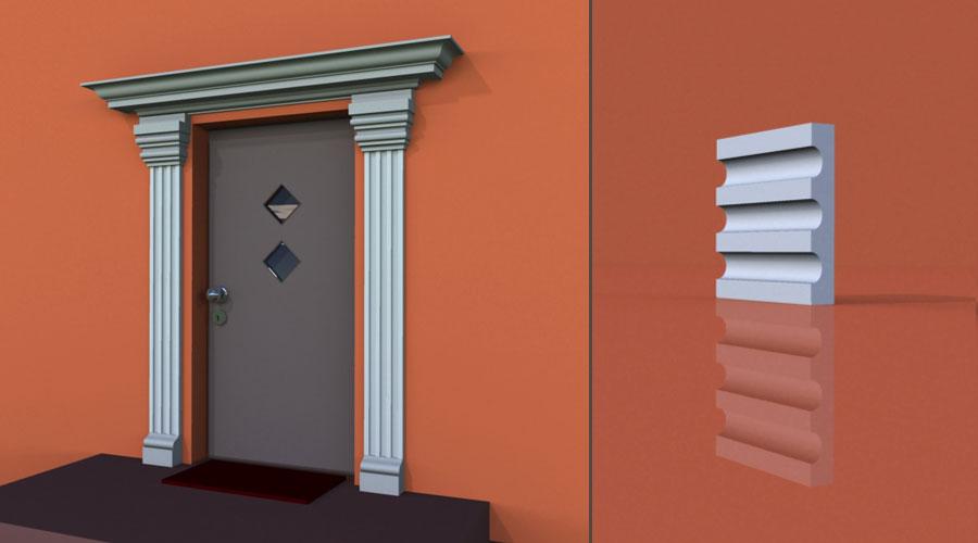 wzór 1 profilu fasadowego pilastra