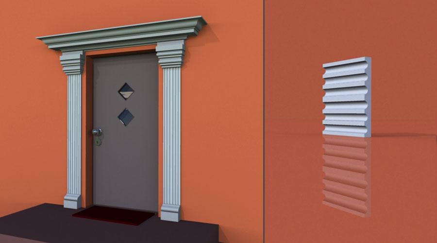 wzór 2 profilu fasadowego pilastra
