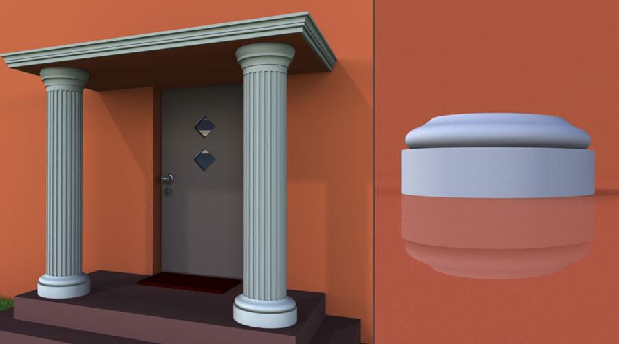 wzór 1 profilu fasadowego podstawy kolumny