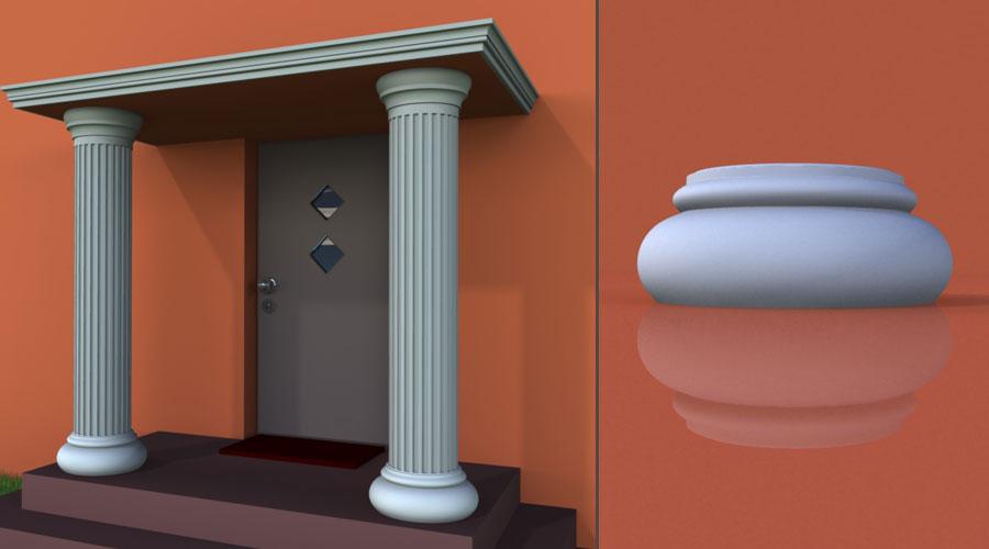 wzór 3 profilu fasadowego podstawy kolumny