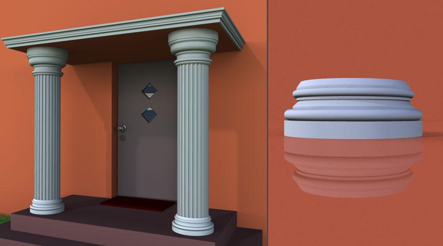 wzór 4 profilu fasadowego podstawy kolumny