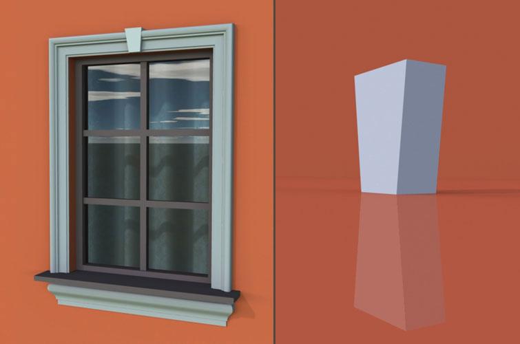 wzór 1 profilu fasadowego zwornika