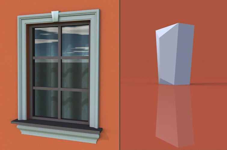 wzór 3 profilu fasadowego zwornika